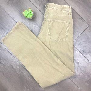 EDDIE BAUER Straight Fit Tan Corduroy Pants 33X34
